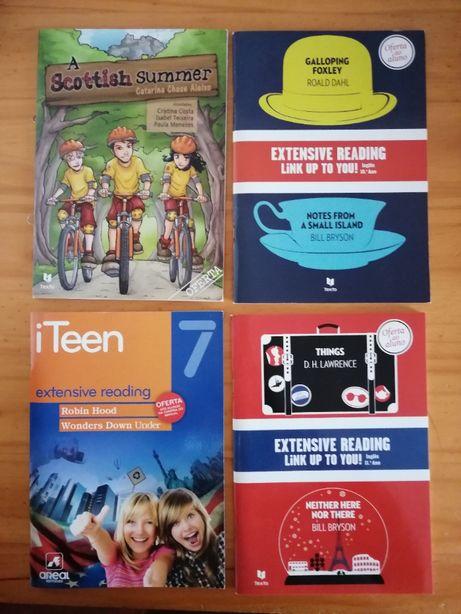 Livros inglês - leitura extensiva do 2º ciclo ao secundário