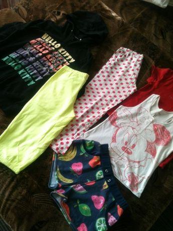 пакет вещей.футболка.майка.лосины.шорты.кофта.