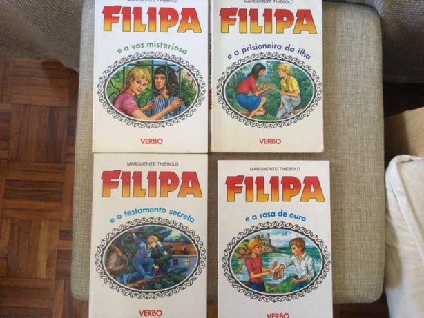 Livros Filipa. São antigos, entre 1985 e 1989