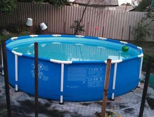 Каркасный бассейн INTEX полная комплектация