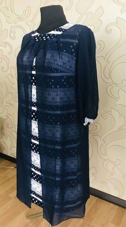Платье летнее женское с шифоновой накидкой. Большие размерв от произво