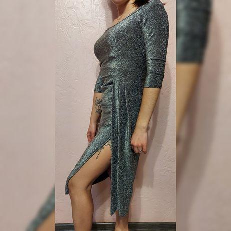 Плаття срібне з глітером