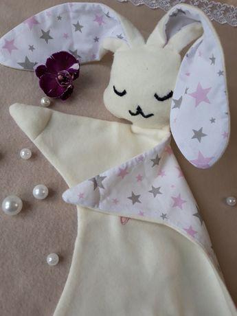 Комфортер Игрушка Зайка - сплюшка для новорождёного Именная игрушка
