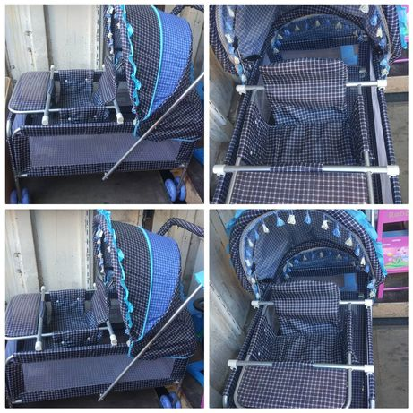 коляска+кроватка+сьемный стульчик столик-Акция