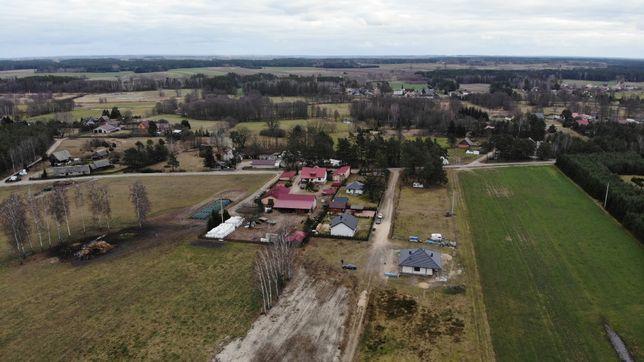 Działka budowlana Popiołki 0,10 ha rzeka lasy media + płot gratis