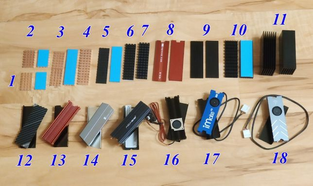 Радиатор для SSD дисков M2 NGFF NVMe или M.2 NGFF SATA
