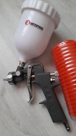 Краскопульт пневматический НР 1.5 мм шланг спиральный компрессор