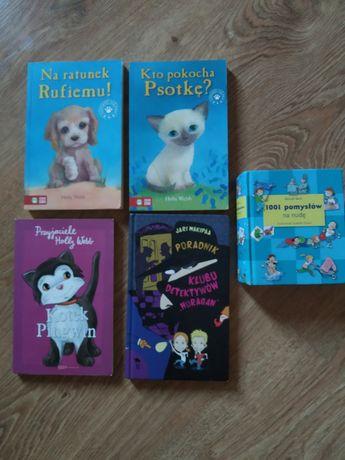 Zestaw tanich książek dla dzieci lub nastolatków o zwierzątkach itp.