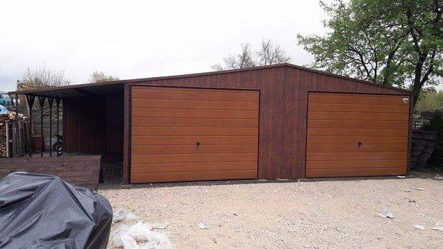 Garaż blaszany 7x5,5  blaszak- blaszaki hala wiata garaże