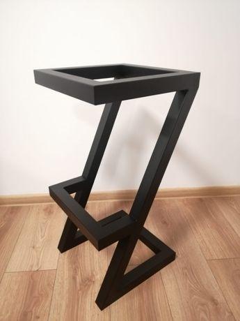 Hoker metalowy_ loft_industrial, krzesło barowe w stylu loft