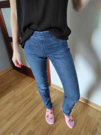 Spodnie damskie jeans rozmiar 34- jak nowe H&M