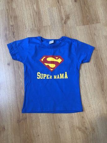 Tshirt super mama nowy xs s