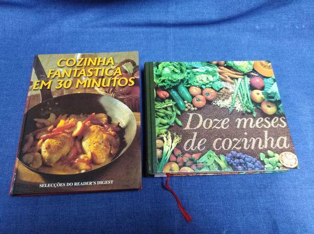 Livros de culinária, pastelaria e outros.