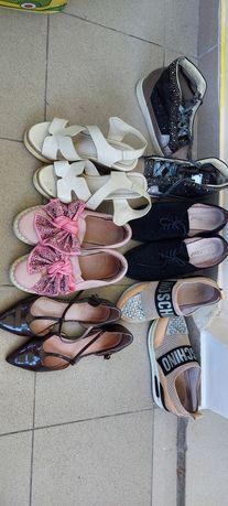 Пакет обуви!!!Сникерсы , босоножки туфли все натуральная кожа