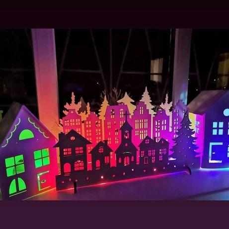 Домики на окна, декор новогодний, игрушки детям