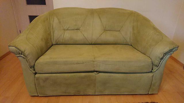 Sofa dwuosobowa rozkładana alcantara