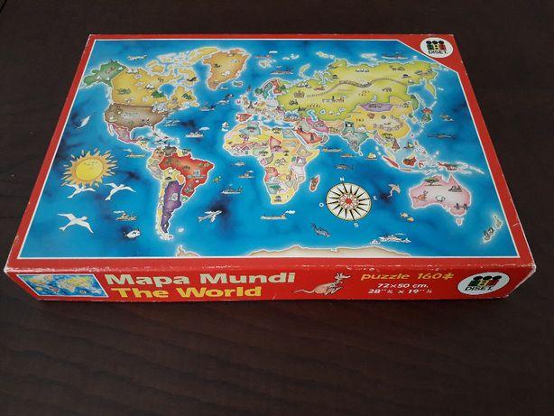 Puzzle 160 peças Mapa Mundo