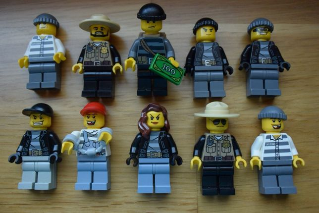 LEGO City Policja Policjant Złodziej Detektyw Uciekinier Więzienie