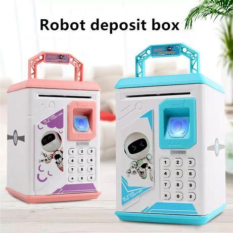 Детский электронный сейф-копилка Робот ROBOT BODYGUARD с отпечатком