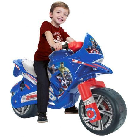 Duży motor biegowy jeździk rowerek Avengers Marvel odpychacz