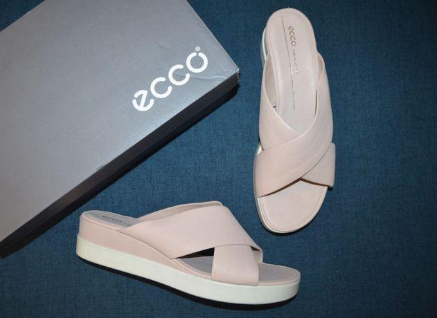 Кожаные шлепанцы слайдеры босоножки ECCO Touch 42 размер Доставка