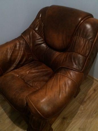 sprzedam fotel skórzany