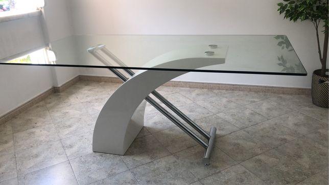 Mesa de vidro como nova