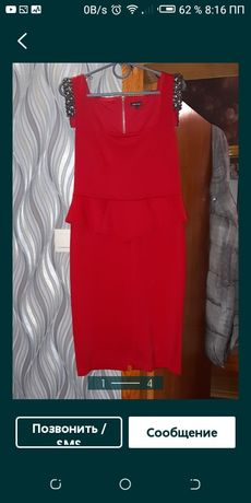 Плаття класнюче  червоне