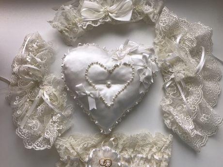 Подвязки, бижутерия для невесты