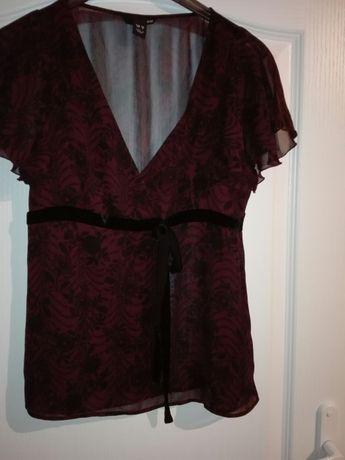 Piękna narzutka, bluzka elegancka zwiewna h&m 38