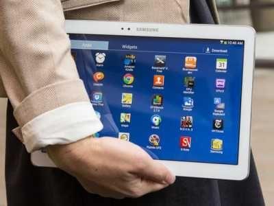 Новый Планшет Samsung Galaxy 10,1 2 sim GPS Синего цвета