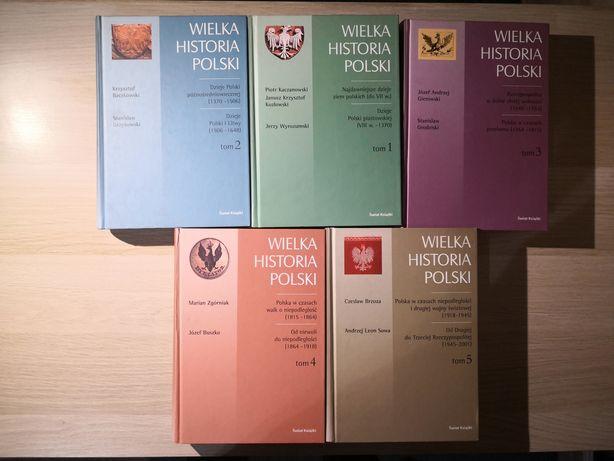 Wielka historia Polski 5 tomów Brzoza, Sowa, Baczkowski, Wyrozumski