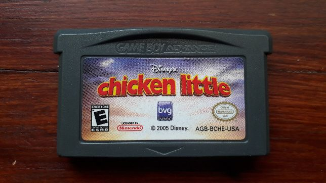 gra gameboy advance Kurczak Mały Chicken Little