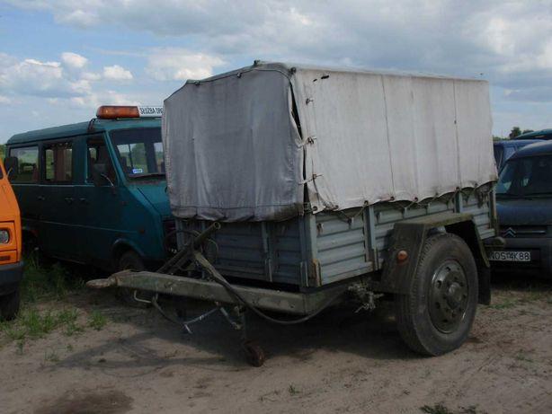 Przyczepa jednoosiowa 2 tony długa szeroka masywna nieużywana,F-VAT-23