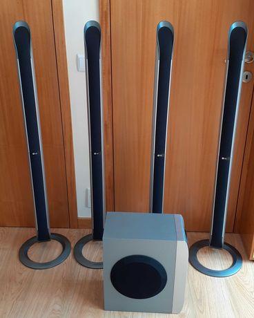 4 colunas torre marca LG com 480W + Subwoofer LG 300W