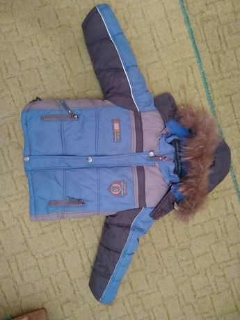 Зимняя куртка на мальчика 1-2.5 года
