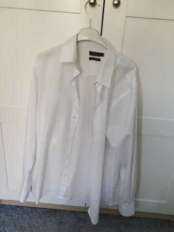 biała koszula pierre cardin L
