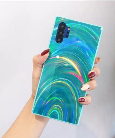 Etui Case Samsung Galaxy M21 M30S Miętowo Zielone efekt Tęcza 3D
