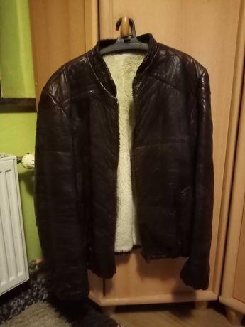 Kurtka skórzana z futerkiem (zima/wiosna) retro vintage bomber jacket