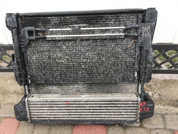 Bmw x3 e83 касета радиатори вентилятор
