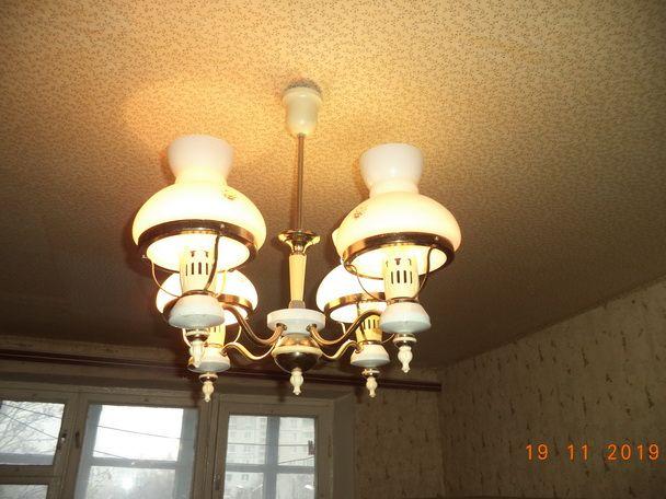 Люстра на 4 плафона, лампа, светильник