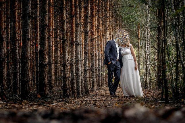 Piękna suknia ślubna rozm. 40 - Uprana