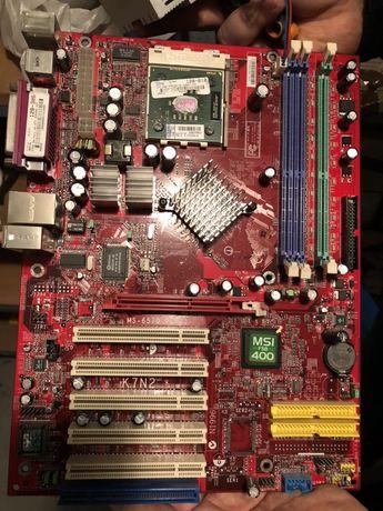 Płyta główna MSI MS-6570 FSB 400 + AMD Athlon XP 2500+ z chłodzeniem