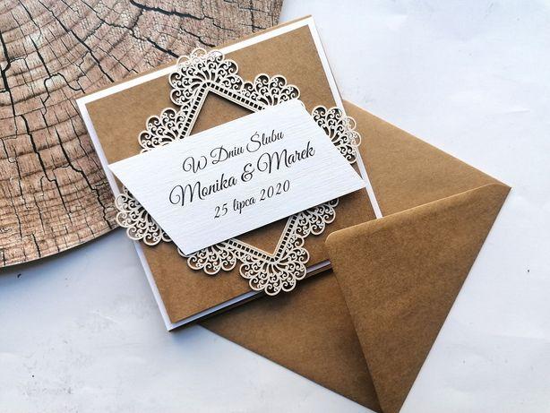 Pamiątka ślubna kartka ślubna w dniu ślubu