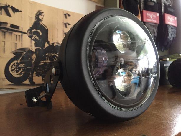 Farol LED Daymaker hd universal kit completo, chopper bobber scrambler