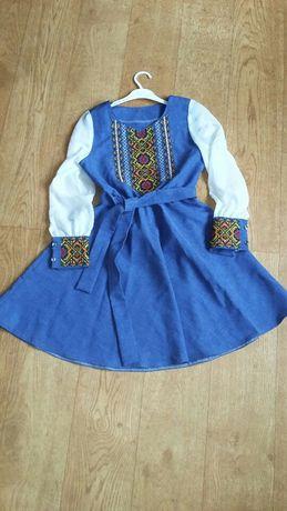 Плаття вишите. Платье. Вишиванка для дівчинки.