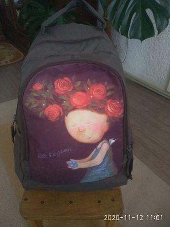 Рюкзак Kite з принтом Гапчинська,портфель,сумка ,шкільна,для школи