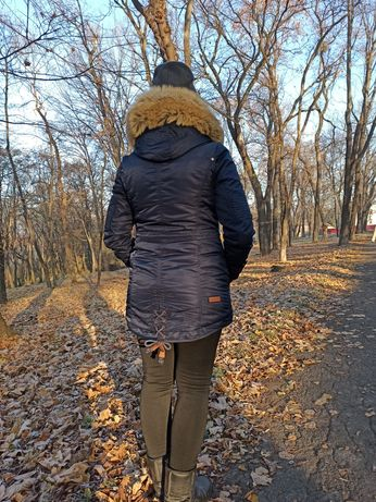 Куртка парка зимняя на меху размер М