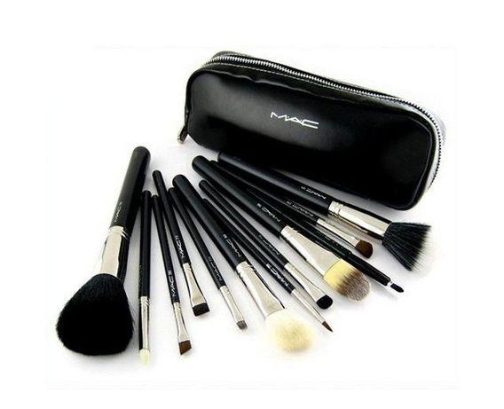 Кисточки для макияжа 12 шт кисти MAC Cosmetics Натуральный ВОРС