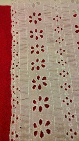 Tkanina bawełna z haftem